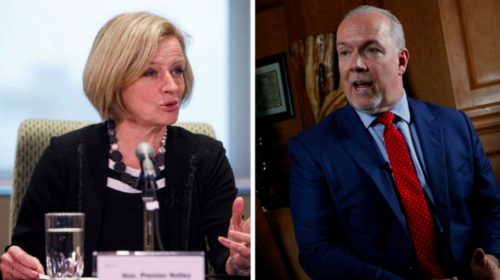 B.C. premier says he won't escalate trade dispute with Alberta over pipeline