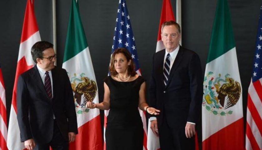 Trump threat hovers over NAFTA as Ottawa talks end with no major progress