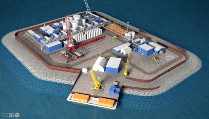Oil company proposes Arctic drilling from artificial island