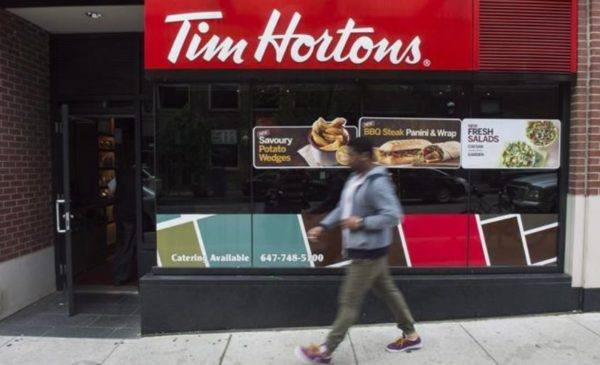 Tim Hortons sales fall by one-third as RBI feels the pain of pandemic