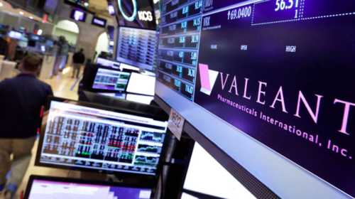 Valeant shares slump even as drugmaker posts highest net profit in three years