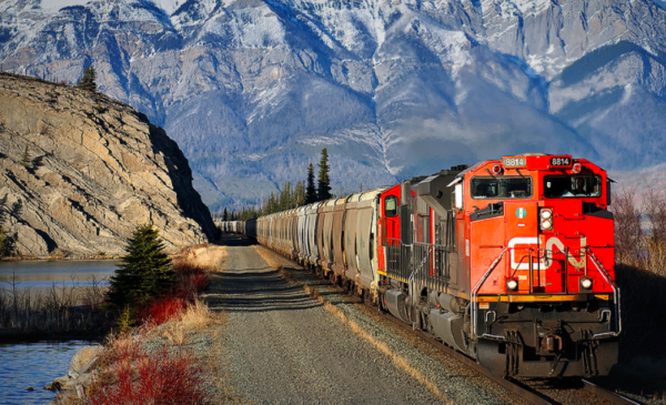 CN Rail feeling slowdown as auto and crude revenue plunges, despite grain gains