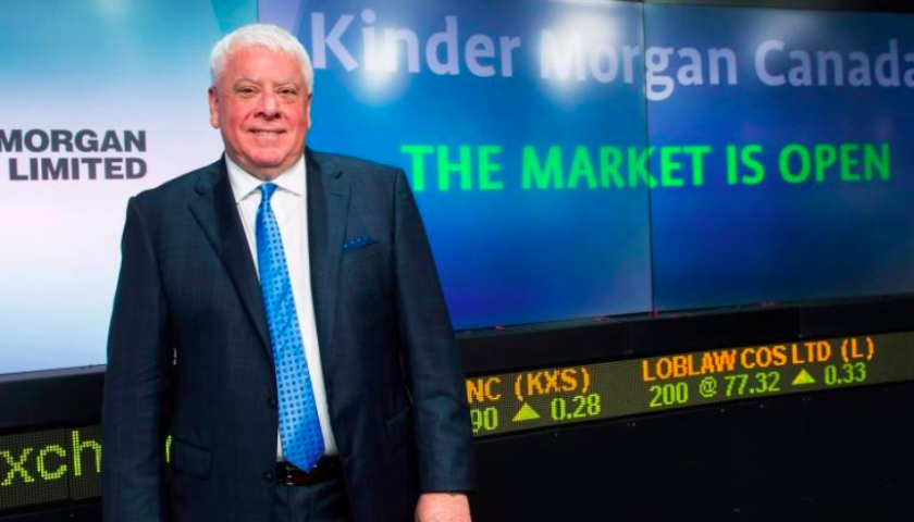 Kinder Morgan Canada shares tick higher after deal to sell Trans Mountain