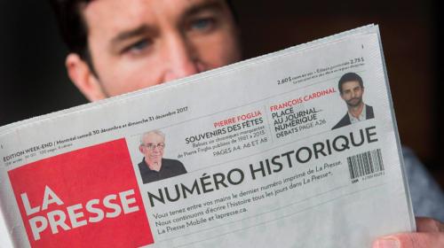 Montreal's La Presse announces new official not-for-profit status