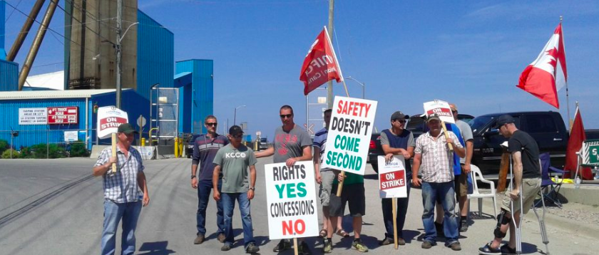 Access to Ontario salt mine blocked by striking workers