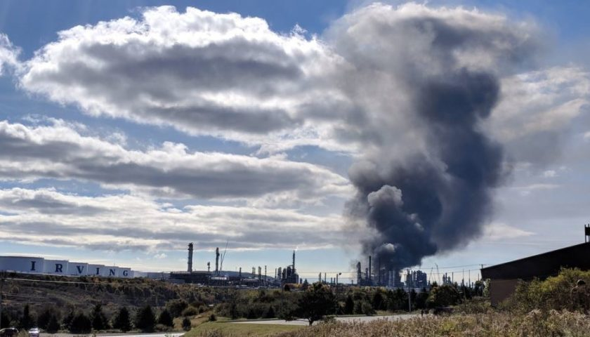 Fire, smoke fill Saint John sky after oil refinery blast: 'My whole house shook'
