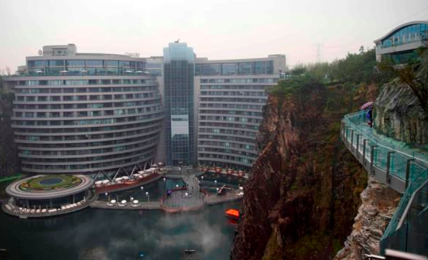Luxury hotel built in former pit mine to open in China