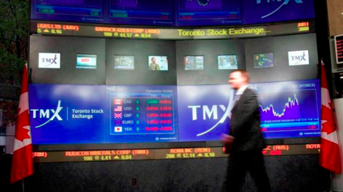 Energy pushes TSX higher in early trading while U.S. stock markets dip